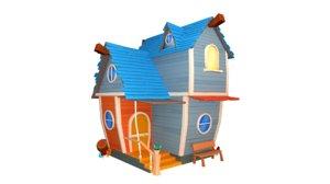 3D house cartoon - asset