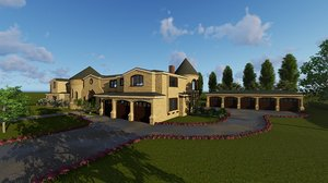 3D luxury house model