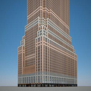 skyscraper highrise building 3D model