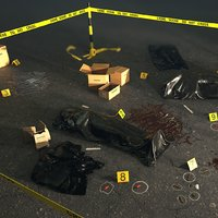 crime scene set barrier 3D