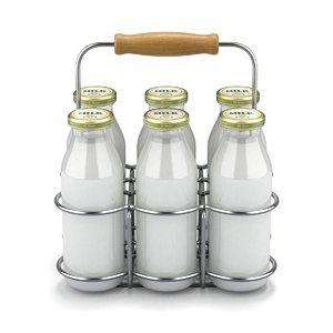 bottle basket milk 3D