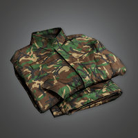 Military Folded Clothes Uniform - MLT - PBR Game Ready
