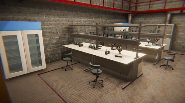 3D model vr underground laboratory -