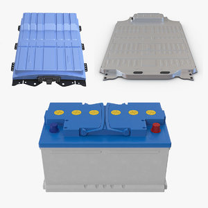 3D model classic electric car battery