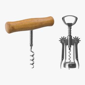 3D corkscrews screw model
