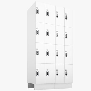 commercial lockers lock 3D model