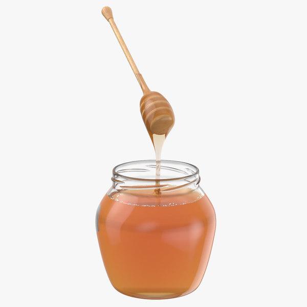 3D honey jar dipper