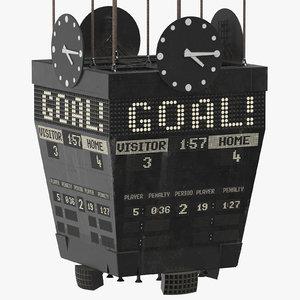 old ice hockey scoreboard model