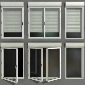 3D model swing stained glass windows