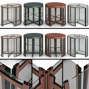 3D revolving entrance doors model