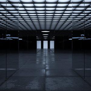futuristic interior 3D model