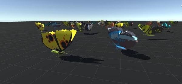 games ai cartoon butterflies model