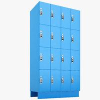 commercial lockers lock 3D model