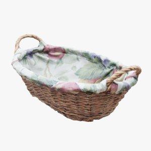 3D wicker basket food