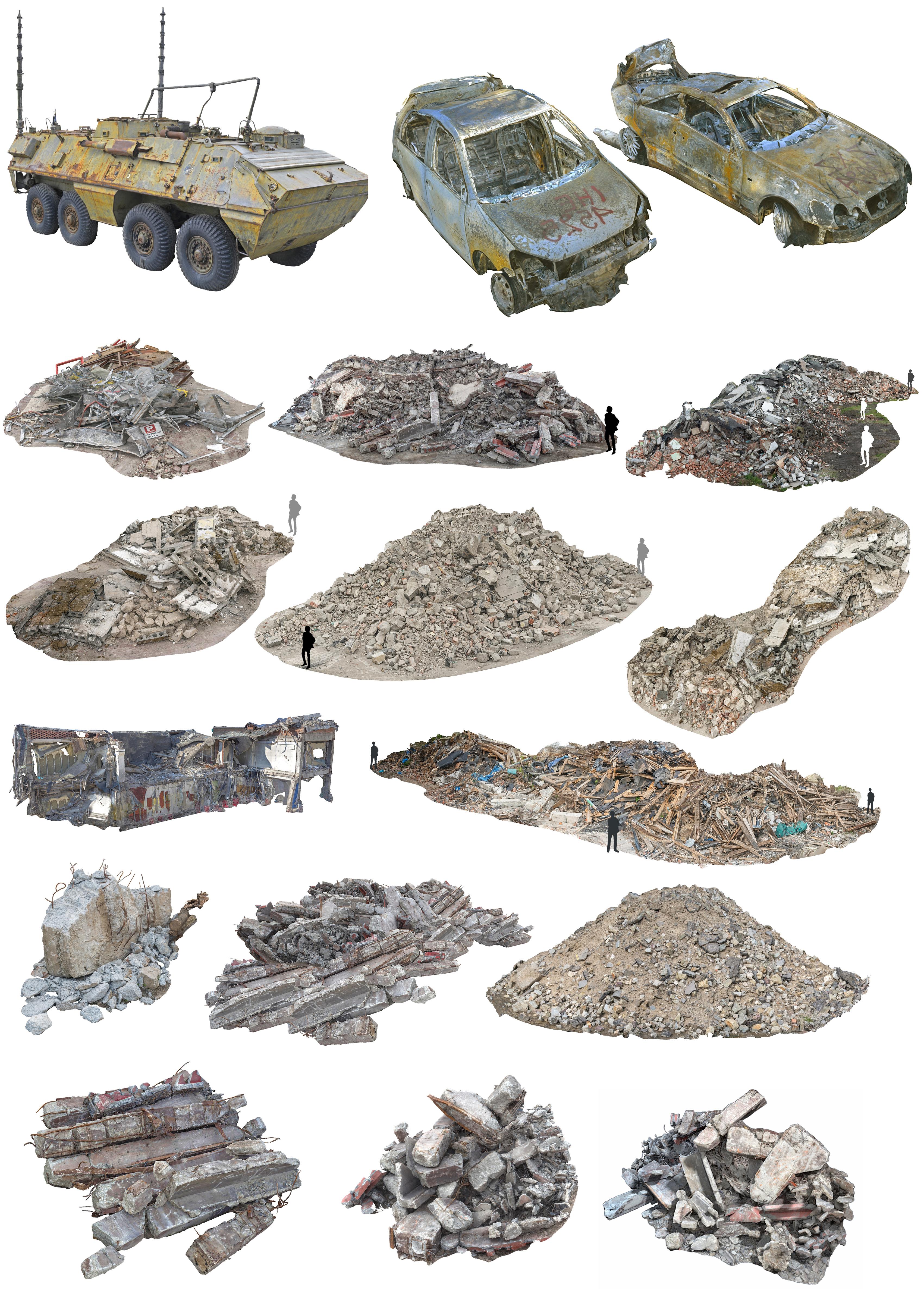 war demolished pack 3D model