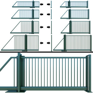 sliding gate wicket 3D model