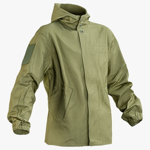 3D realistic military green jacket model