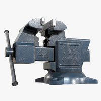 Old Damaged Tool Vise AAA Game Ready Asset