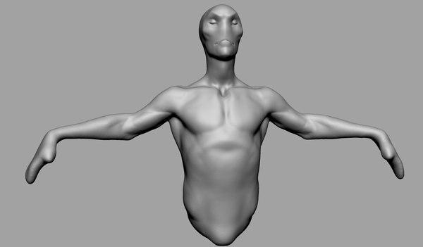 speed sculpt characters 3D model