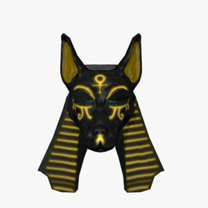 anubis mask 3D model