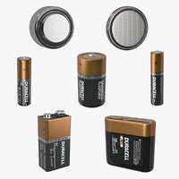 duracell batteries d 3D
