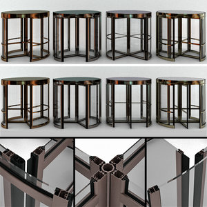 revolving entrance doors 3D model