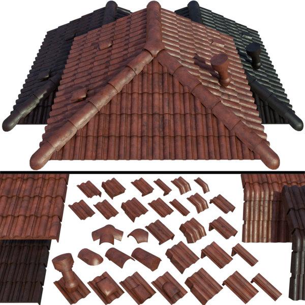 roof ceramic tiles model