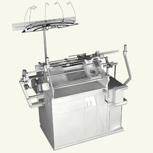 3D model knitting machine