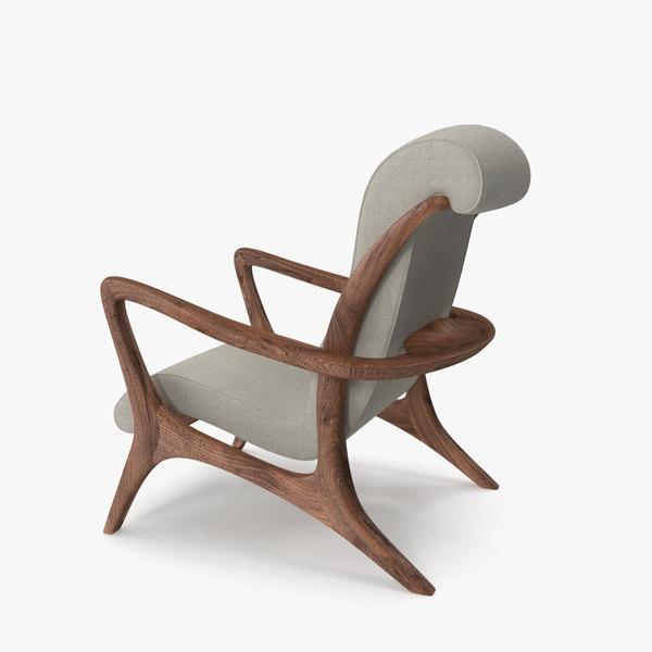 lounge chair vladmir kagan 3D model
