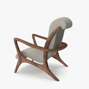 lounge chair vladmir kagan 3D model