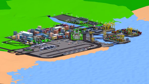 simplepoly city buildings 3D