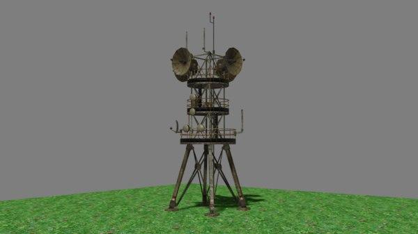 radio antenna mast 3D model