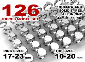 jewelry printing set 3D model