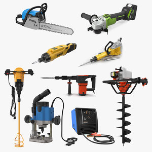 3D industrial power tools 3