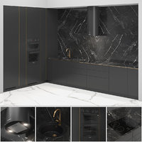 brass kitchen 3D model