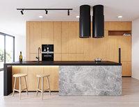 3D modern kitchen 3 miele model