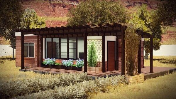3D architecture cottage bim model