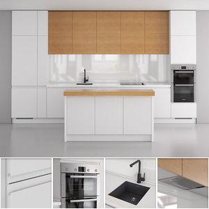 3D polka kitchen