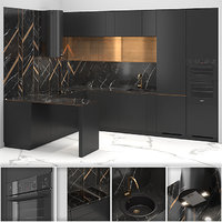 kitchen brass black model