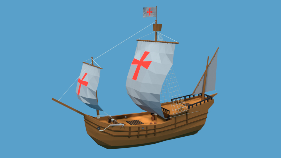 pinta 1492 ship 3D model