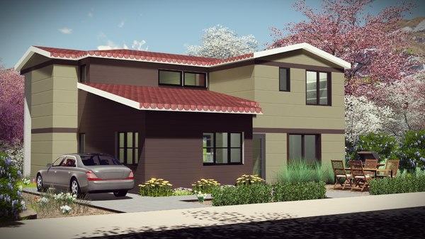 architecture duplex bim 3D model