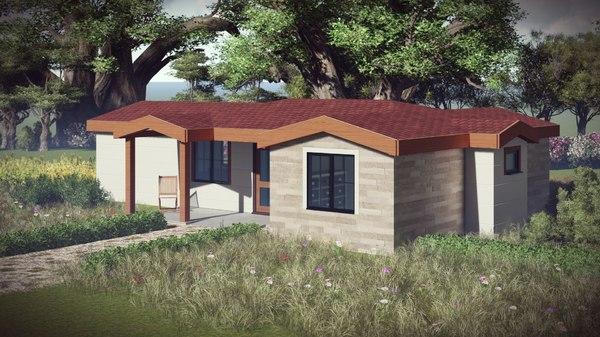 architecture small villa bim model