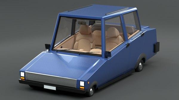 luxury cartoon car short model
