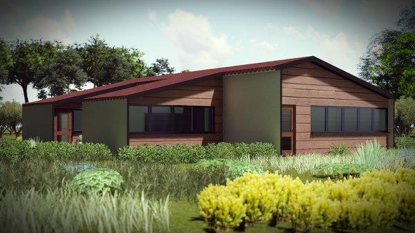 3D model architecture loft housing bim