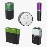3D batteries lr20 lr44 model