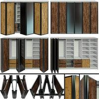 wardrobe folding doors 3D model