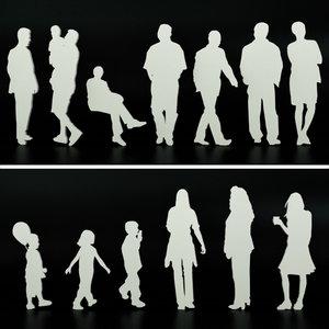 3D people entourage staffage