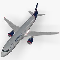 airbus a320-214 aeroflot airlines 3D model