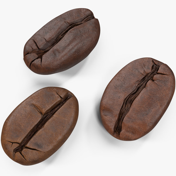 coffee beans roasted 2 3D model