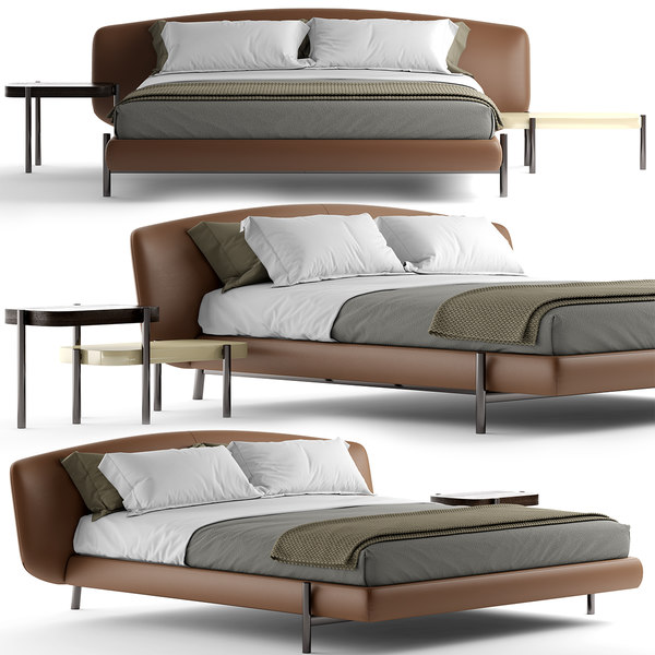bed photorealistic 3D model